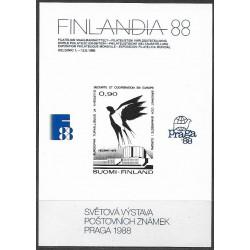 PT1988,  FINLANDIA 88 , Světová výstava poštovních známek PRAGA 1988,