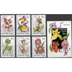 3922- 3927./7/,Bl192, Orchideje,**,