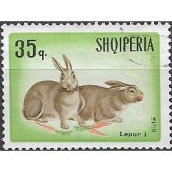 1196.- Albanie,o, králíci a zajíci,