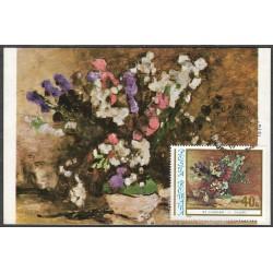 3383.- flóra- květiny v malbách 1976,/*/,