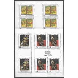 129- 131/3/,PL3/3, Umělecká díla na známkách 1996,**,