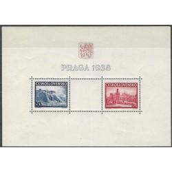 342/343.,A, Výstava poštovních známek Praze PRAGA 1938 ,**,