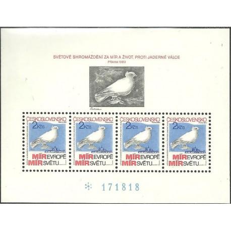 2597.A, Shromáždění za mír a život Praha 1983,**,