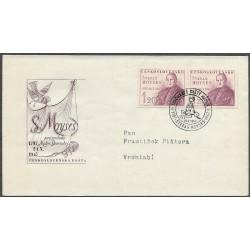 460-/2/,FDC/1/, 150. výročí narození Štefana Moysese /*1797-+1869/,o-,