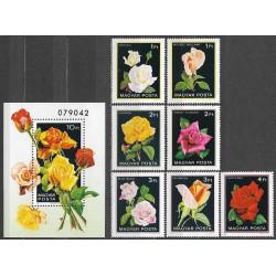 3548- 3555/7/,Bl.156, flóra- růže,**,