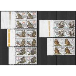 2758-2762./5/,čtbl,datum, Ochrana přírody - ptactvo- sovy,**,