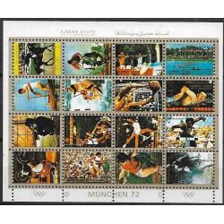 2621- 2636./16/,KLbg,Olympijské sporty- Mnichov 1972,o,