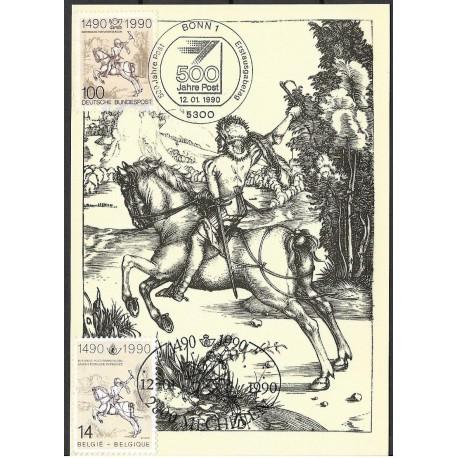 1445 /2402 Der kleine Postreiter Albrecht Durer 1496,BDR- Belgie,/*/,