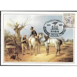 1445. Preusischer Postillion und Federvirehhander 1832,BDR,/*/,-o,