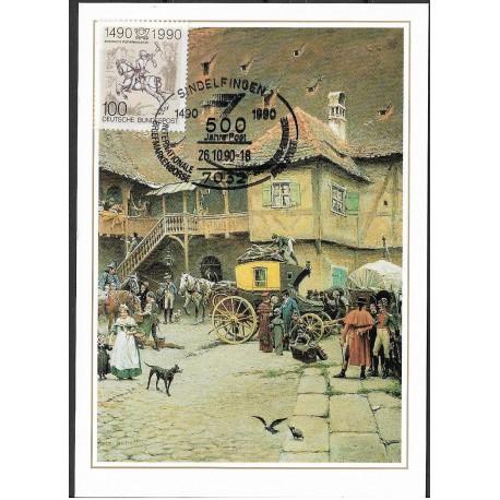 1445. Postkutsche in Bamberg 1850,BDR,/*/,-o,