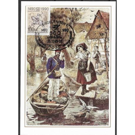 1445. Brieftrager im Spreewald 1897,BDR,/*/,-o,