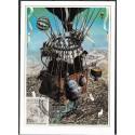 1445. Ballonpost deutscher Millitarluftschiffer Zeitungholzstich um 1900,BDR,/*/,-o,