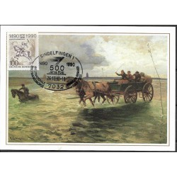1445. Wattenpost zwischen Duhnen und,,, 1905,BDR,/*/,-o,