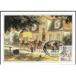 1445. Mittagsrast vor einer Bayerischen Poststation 1910,BDR,/*/,-o,