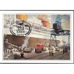1445. Postverkehr Deutschland- USA,,, 1935,BDR,/*/,-o,