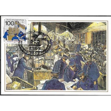 1475.- Femsprechvermittlungsstelle, Berlin, um 1900,BDR,/*/,-o,