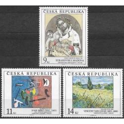 27-29./3/, Umělecká díla na známkách 1993,**,