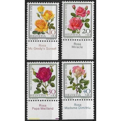 984- 987./4/,přit, PRO JUVENTUTE 1972, růže,**,