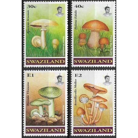 Swaziland, 636- 639./4/, Houby,**,