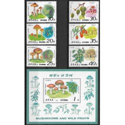 2999- 3004.,Bl244/7/, Korea sever- houby,**,