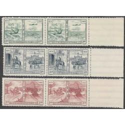 508- 510./3/,dvp, 75. výročí Světové poštovní unie,**,