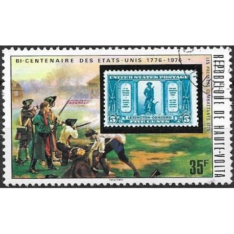 551- R. de Haute Volta- známka na známce,o,