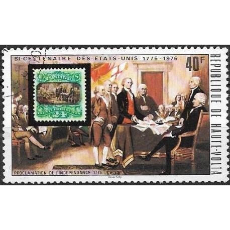 552- R. de Haute Volta- známka na známce,o,