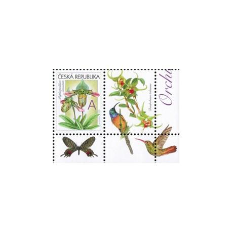 745.K1,K4, Gratulační motiv- Orchideje,**,