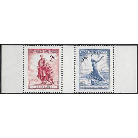 691- 692.,/2/,st, Celostátní výstava poštovních známek Bratislava 1952,**,