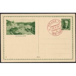 CDV39-4. Obrazová dopisnice- MARIÁNSKÉ LÁZNĚ, 1928,o-,
