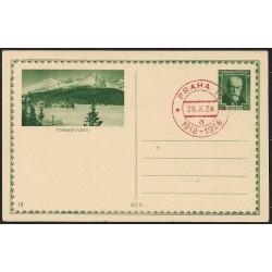 CDV39-18. Obrazová dopisnice- ŠTRBSKÉ PLESO, 1928,o-,