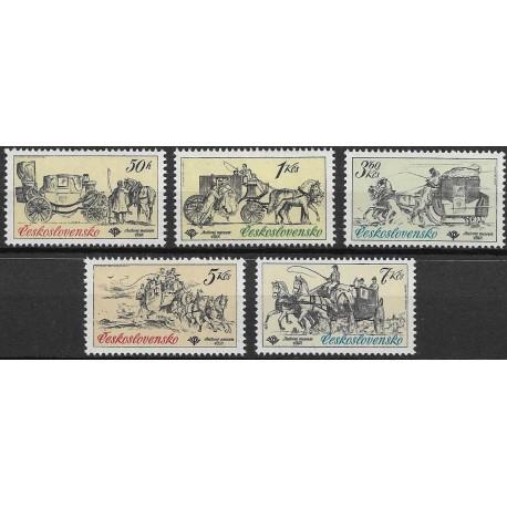 2469- 2473./5/, Poštovní muzeum- historické poštovní vozy,**,