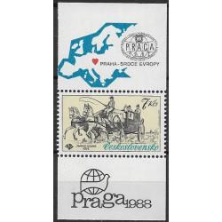 2489.,KK, Mezinárodní výstava poštovních známek srdce-Praga,**,