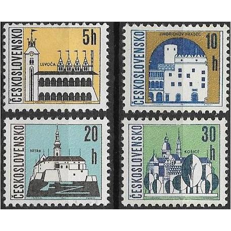 1480- 1483./4/, Výplatní známky - Čs. města I.,**,