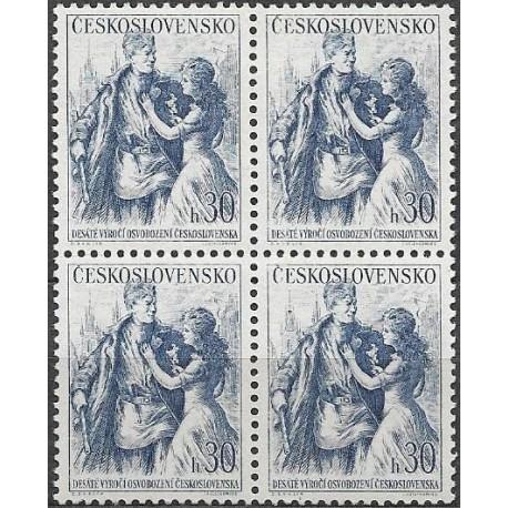 821- ,čtbl,10. výročí osvobození Československa ,**,