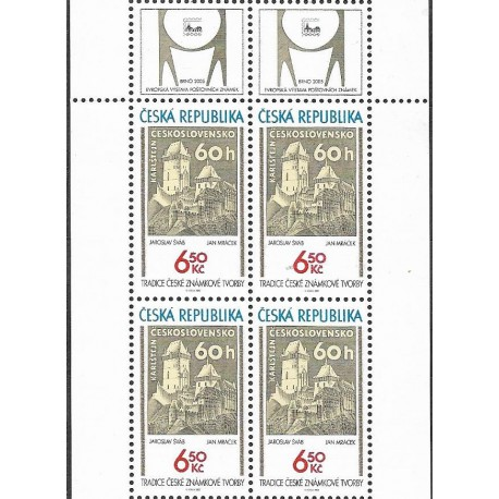 421.,čtbl,KKhorní,  Tradice české známkové tvorby,**,