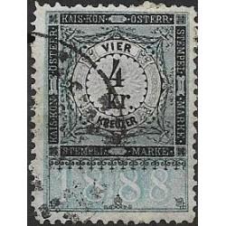 349. Ö,kolková známka 1888,o,