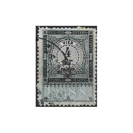 348. Ö,kolková známka 1888,o,