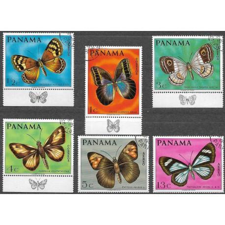 1056- 1061./6/ motýly,o, Panama,