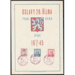 """PT, Oslavy 28. října 1945 PRAHA, BRNO, OPAVA,o"""","""