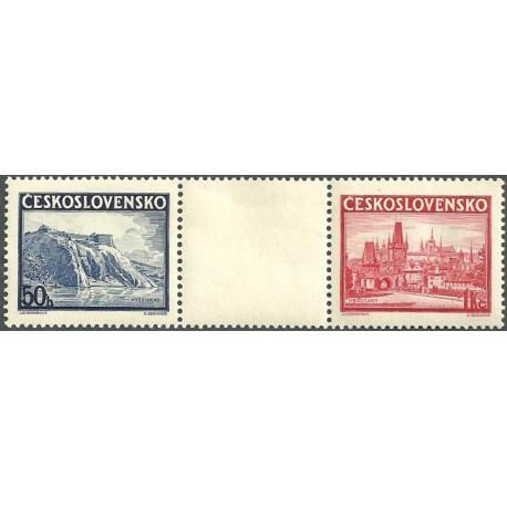 342- 343./2/,K, Výstava poštovních známek Praze PRAGA 1938 ,**,*,