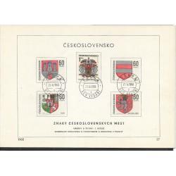 """1709- 1718./10/,NL/1/, Znaky Československých měst ,o"""","""