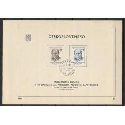 """811- 812./2/,NL17/1/, 70. narozeniny Antonína Zápotockého, o"""",,o-,"""