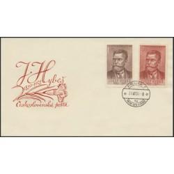 """606- 607./2/,FDC/1/, Josef Hybeš,o"""","""