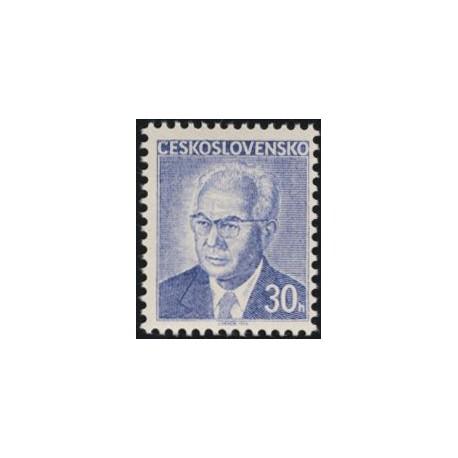 2166.-,fl1, Prezident Gustav Husák- výplatní známka,**,