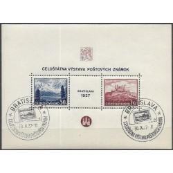 329-330.A, Výstava poštovních známek Bratislava 1937,o,