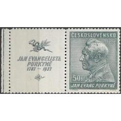 322.-,KL, 150. výročí narození J.E.Purkyně,**,