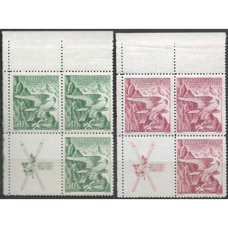 331- 332./2/,čtbl.h.l.rohPA,KL, Zimní sletové sokolské hry,**,