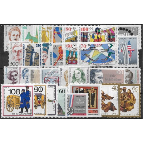 830- 859./30/, Kompletní rok poštovních známek 1989  ,**,