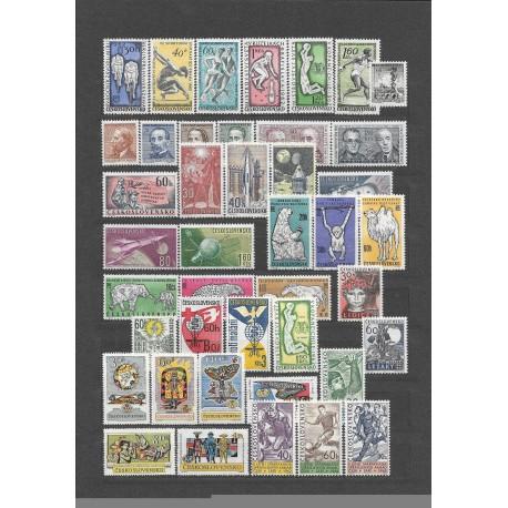 1227- 1284./71/ ročník poštovních známek 1962, **,